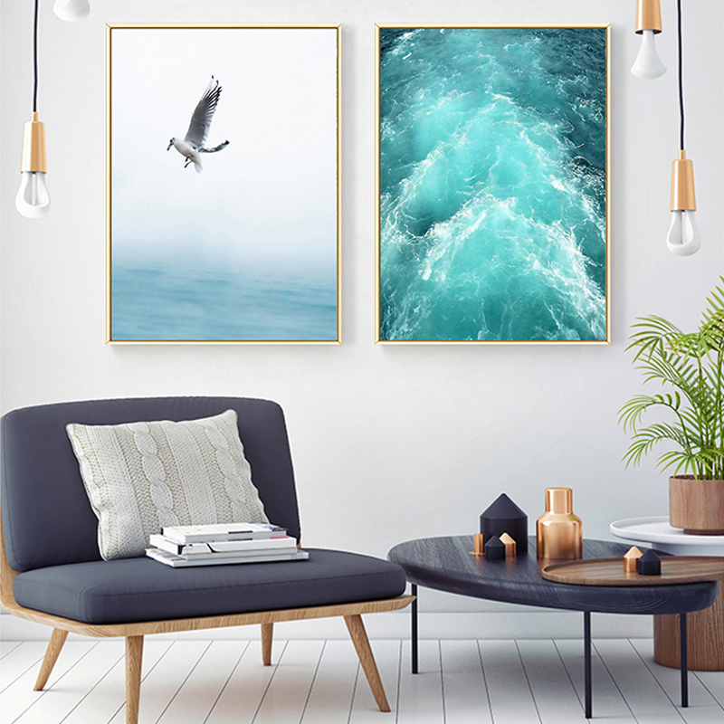 Blue-Sea-And-Sky-Nordic-Landscape-Canvas-Painting-Free-Seagull-Waves-Beach-Art-Poster-Living-Room (3)