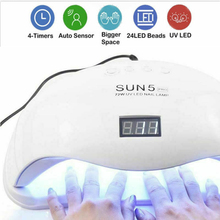 LD06 SUN 5X 48W Nail Dryer UV LED Nail Lamp Gel Polish Curing Lamp 5/30/60s Timer For Curing Machine Auto Sensing Nail LED Lamp 48w nail lamp 2in1 smart phototherapy electric machine nail dryer for curing nail gel polish led uv lamp for hand and foot