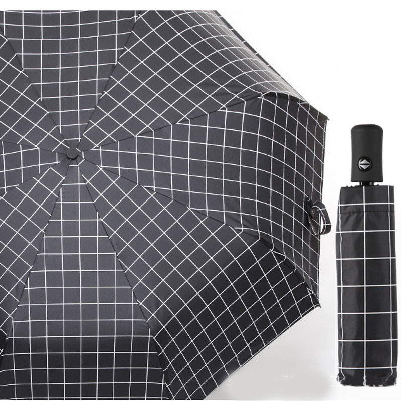 Портативный практичный мини автоматический зонт с мультяшным медведем Компактный Карманный Женский 5 складной зонт с черным покрытием Защита от солнца УФ - Цвет: Черный