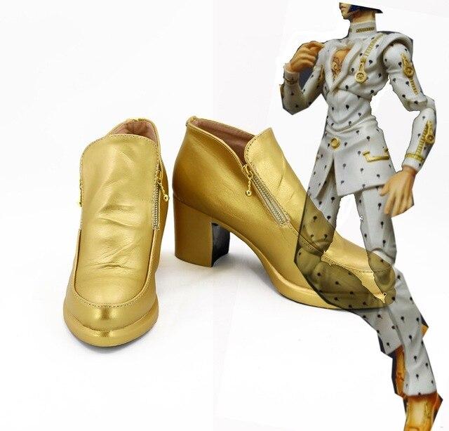 JOJO Shoes JOJO'S BIZARRE ADVENTURE Bruno Bucciarati Cosplay Shoes Boots Custom Made European Size