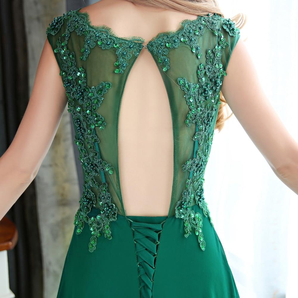 f93f6e80ea Vestidos de noche con cristales largos vestidos de fiesta 2018 vestido de fiesta  bata de Noche vestidos de fiesta largos elegantes envío rápido en Vestidos  ...