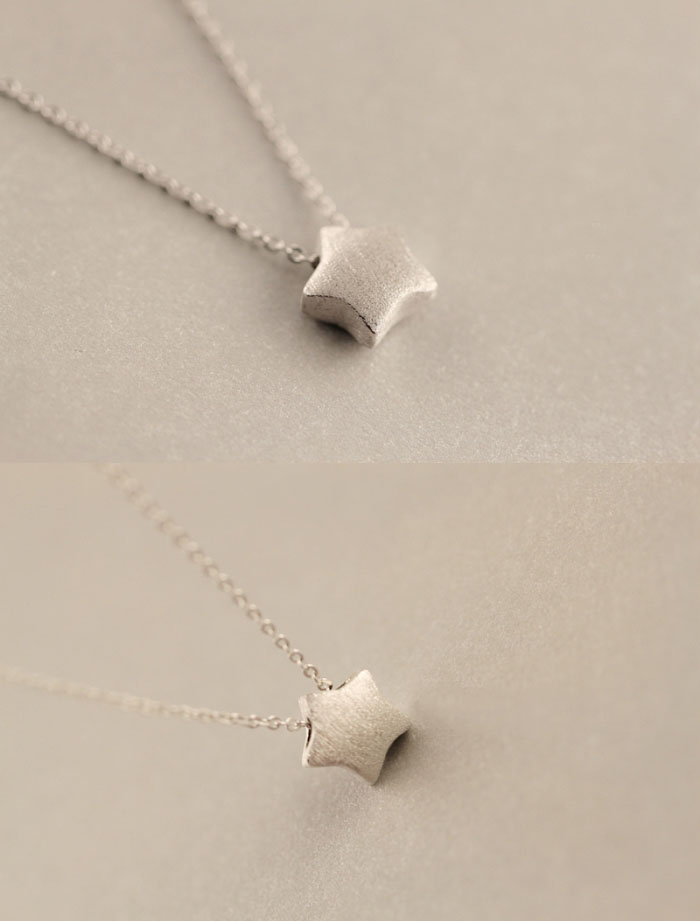 925 Sterling Silver star Necklaces Pendants For Women Fashion Lady Festival Gift Sterling silver jewelry in Pendant Necklaces from Jewelry Accessories