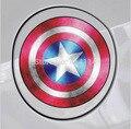 2 estilos decorativos escudo del Capitán América Iron Man The Avengers applique calcomanías etiqueta engomada del coche car styling vinilo tanque de combustible reparto