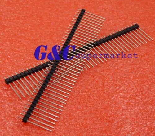 10 pcs 1*40 40Pin 2.54mm 20mm Longo Cabeçalho Pin Masculino Breakable Pin Header