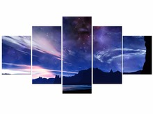5 panel Canvas Prints Art HD Painting Picture Night Star Sky Galaxy Wall Pictures Home Decoration Framed