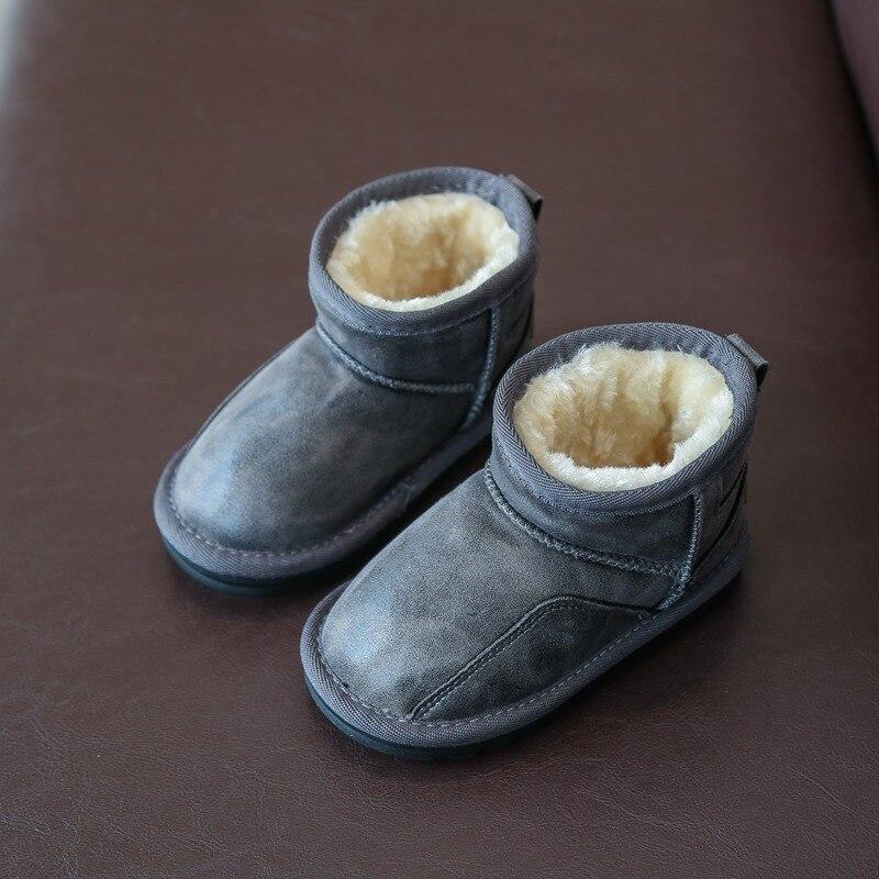 6de591a4adb Otoño e Invierno Caliente gruesa felpa moda Rosa párrafo corto nieve botas  niños niñas impermeables botas de nieve impermeable