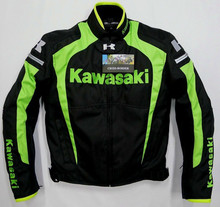 2015 New arrival men motorcycle jacket KAWASAKI automobile motocross motorcycle racing clothing with warm liner