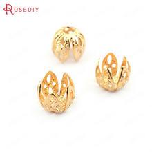 (33610)20 шт 7*75 мм 24k золото Цвет латунные бусины колпачки