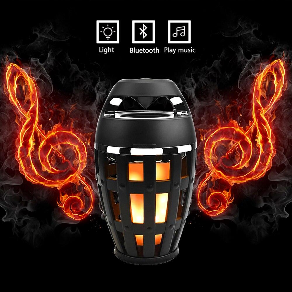 ETONTECK Portable 5W Wireless Bluetooth Speaker LED Flame Effect bluetooth speaker USB Charging Touch Led lamp Soft Lights wireless bluetooth speaker led audio portable mini subwoofer