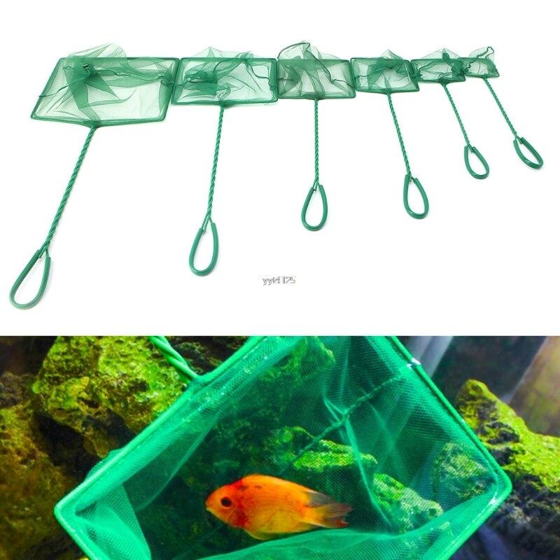 "OOTDTY New 1PC Aquarium Fish Tank Square Shrimp Small Betta Tetra Fish Net 3""-10"" 6 Sizes"