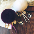 9 Цветов Натурального Меха Мяч 8 см Помпоном Брелок Автомобилей Брелок Кролик мех Мяч Брелок Мех Бренд Помпонами Мешок Подвески С Цепями брелок