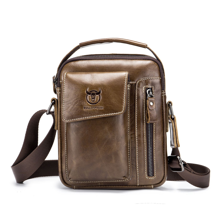 TEXU Bullcaptain Genuine Leather Business Messenger Bag Vintage Crossbody Bag For MenTEXU Bullcaptain Genuine Leather Business Messenger Bag Vintage Crossbody Bag For Men