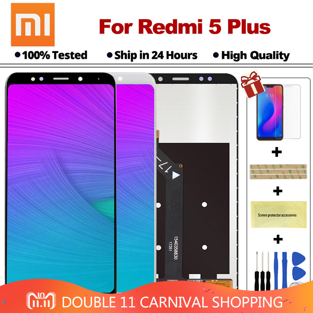 Original Xiaomi Redmi 5 Plus LCD Display Digitizer with Frame 10 points Touch Screen for Redmi5 Plus LCD FHD 5.99 Replacement