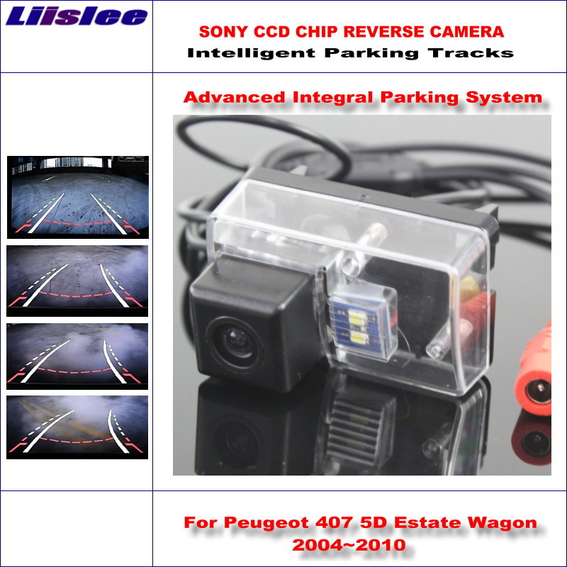 Liislee Intelligentized Reversing Camera For Peugeot 407 5D Estate Wagon 2004~2010 Rear View Back Up Dynamic Guidance Track hot selling for asus k56cb motherboard k56cm rev 2 0 intel 2117 cpu 2gb pm gt740m fully tested main board