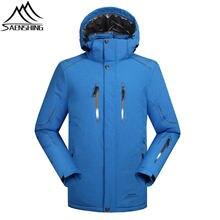 SAENSHING зима лыжная куртка мужчины Водонепроницаемый 10000 супер теплый сноуборд куртка мужчины лыжная одежда дышащая лыж снега пальто