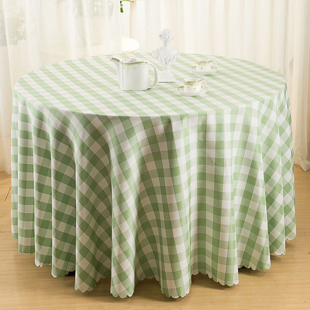 Modern Pastoral Table Cloth Plaid Table Cover Round Square Picnic Tablecloth  Wedding Party Decortion Table Cloths