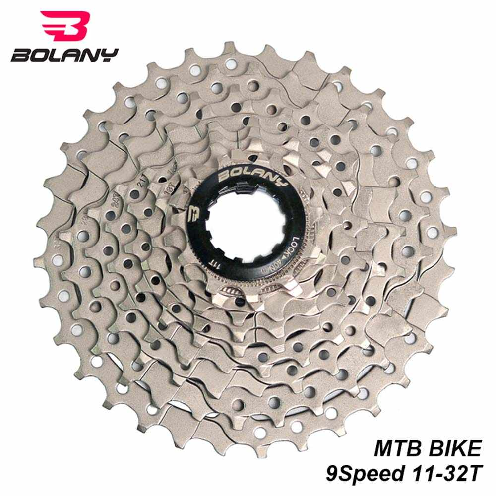 BOLANY 9 Speed Cassette 11-32T Bicycle Freewheel Steel Silver MTB Mountain Bike Sprocket Bike Parts For Shimano System