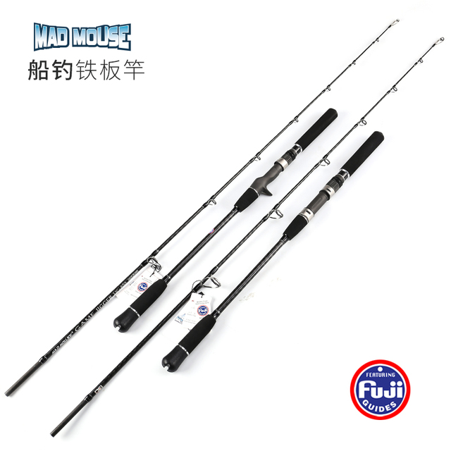 NEWJapan Full Fuji Parts MADMOUSE  Jigging Rod 1.8M PE 2 4 Lure Weight 60 200G 20kgs Spinning/casting Boat Rod Ocean Fishing Rod