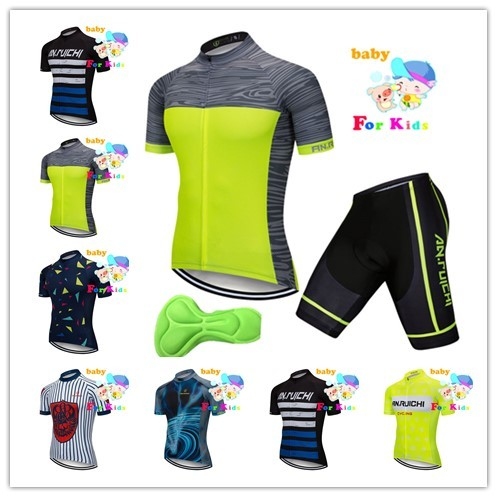 2019 verano Ciclismo Jersey manga corta conjuntos de ropa Ciclismo Maillot Jersey de bici conjunto mtb deporte chico Pro niños usan ropa