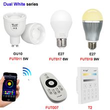 Miboxer FUT011 5w FUT017 6W FUT019 9W GU10 E27 Color Temperature LED lamp Dual White Spot light AC100~240V FUT007/T2 2.4G Remote
