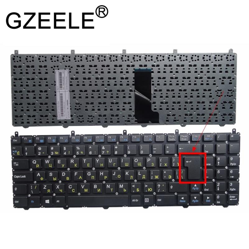 GZEELE RUSSIAN Keyboard For DNS Clevo W650 W650SRH W655 W650SR W650SC R650SJ W6500 W650SJ W655sc W650sh MP-12N76SU-4301 RU BLACK