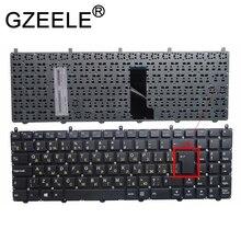 GZEELE teclado ruso para DNS Clevo W650 W650SRH W655 W650SR W650SC R650SJ W6500 W650SJ w655sc w650sh MP 12N76SU 4301 Negro RU