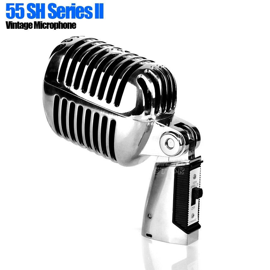 55SH série ll métal professionnel dynamique Vintage Style rétro Microphone pour ordinateur DJ contrôleur enregistrement Studio système domestique-in Microphones from Electronique    1