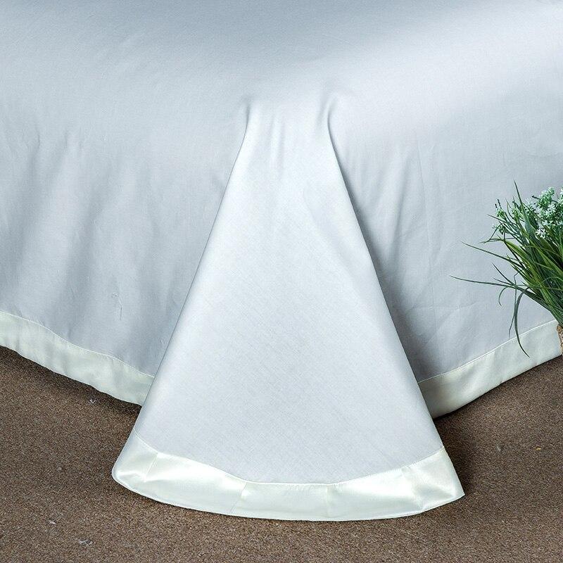 (1)  White silver cotton imitate silk luxurious Bedding Set queen king measurement mattress set Bedsheets linen Europe embroidery Quilt cowl set HTB1 F kpmBYBeNjy0Feq6znmFXaC