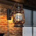 Wall lamp Vintage Antique Bar Cafe tea lights Sconces on the wall kerosene lantern aisle stairs loft lamp lampara pared murale