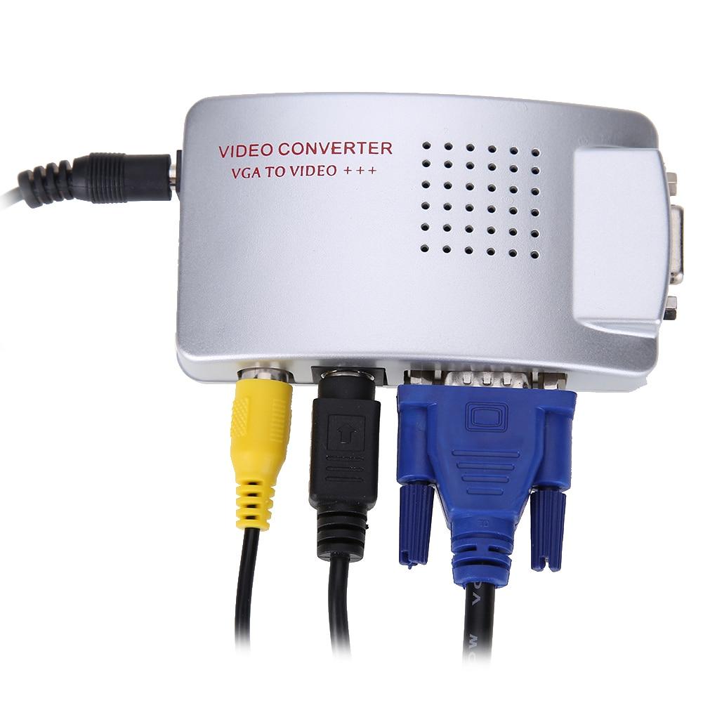 PC Laptop Composite Video TV RCA Composite S-Video AV In To PC VGA - Համակարգչային մալուխներ և միակցիչներ - Լուսանկար 3