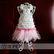 font b Pet b font manually wedding dress dogs pink princess dress font b pet