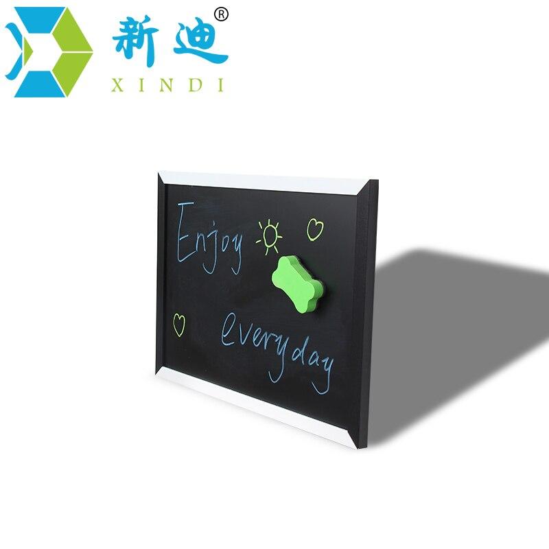 XINDI Neue Magnetische Tafel MDF Schwarz & Weiß Holzrahmen Tafel 25*35cm Hause Dekorative Nachricht Board Für notizen Lousa