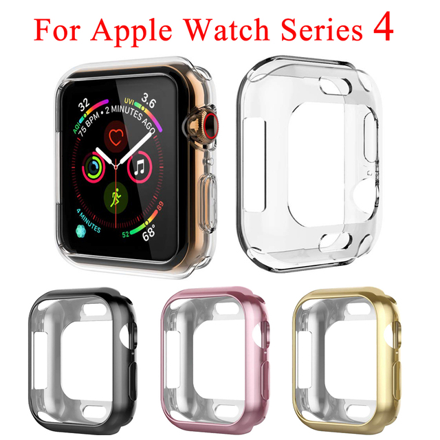 684fd266eff61 TPU Watch Case for Apple watch series 4 Screen Protector For iWatch 44mm  40mm Anti-