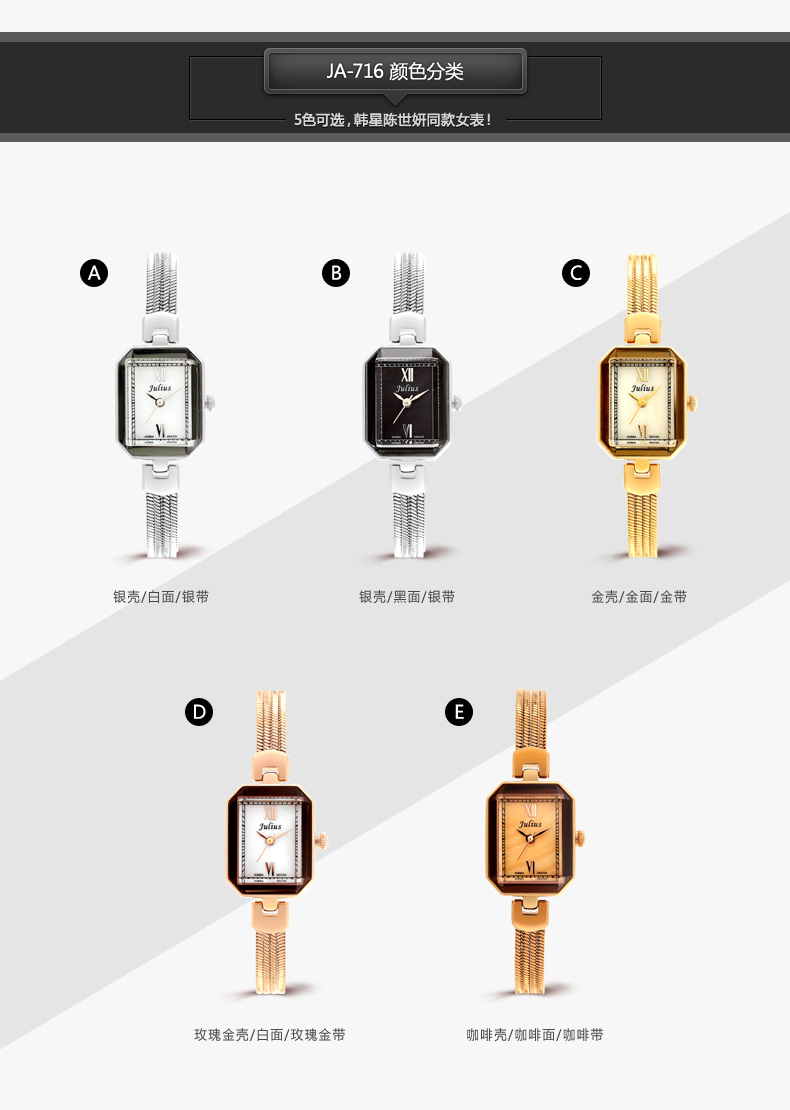 de quartzo mulher moda casual relógio de