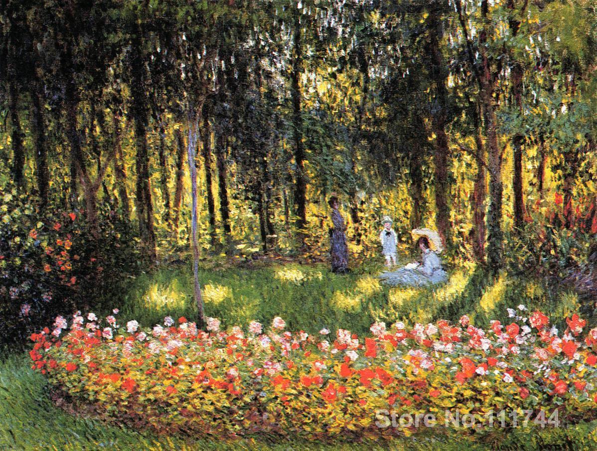 art landscape The Artists Family in the Garden Claude Monet ...