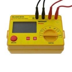 ALL SUN Yellow Milliohm Meter LCD 0.1 M-20 K w 6 pozycjach dokładny szeroki zakres pomiarowy miernik rezystancji EM480C