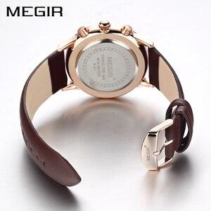 Image 2 - MEGIR Original Watch Men Top Brand Luxury Men Watch Leather Clock Men Watches Relogio Masculino Horloges Mannen Erkek Saat