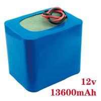 Портативный Супер перезаряжаемый литий ионный аккумулятор Емкость DC 12 V 13600 Mah монитор камеры видеонаблюдения