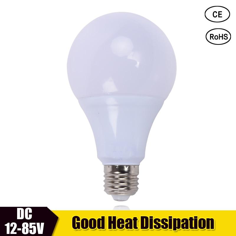 LED Bulb Lamp DC 12V 24V 36V E27 3w 5w 7w 9w 12w 15w Cooling plastic