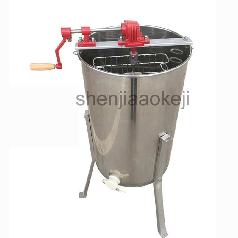 Honey Separator Beekeeping Tool Stainless Steel Manual Shake Honey Machine Honey Extractor Beekeeping Equipment 1pc
