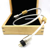 Free Shipping Hifi Supreme Reference POWER CORD seven silver-plated 14AWG 1.5m EU Plug