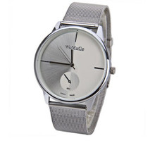 WoMaGe Fashion Metal Mesh Silver Watch Women Watches Women Clock Luxury Ladies Watch Hour Gift relogio feminino orologi donna
