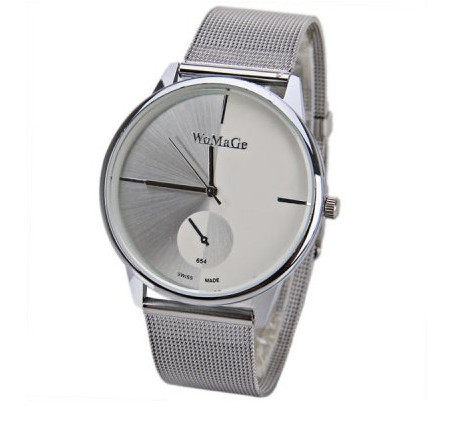 WoMaGe Fashion Metal Mesh Silver Watch Women Watches Women Clock Luxury Ladies Watch Hour Gift relogio feminino orologi donna