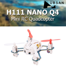 Hubsan H111 ננו Q4 2.4GHz 4CH 6 ציר ג 'יירו Mini RC Quadcopter עם LED אור RTF Drone ילדים של צעצוע