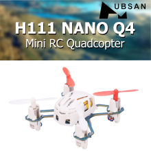 Hubsan H111 NANO Q4 2.4GHz 4CH 6-axis Gyro Mini RC Quadcopter with LED Light RTF Drone Children's Toy