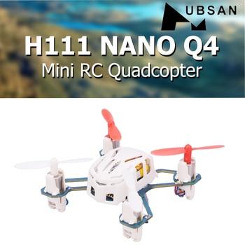 Hubsan H111 NANO Q4 2.4GHz 4CH 6-axis Gyro Mini RC Quadcopter with LED Light RTF Drone Children's Toy