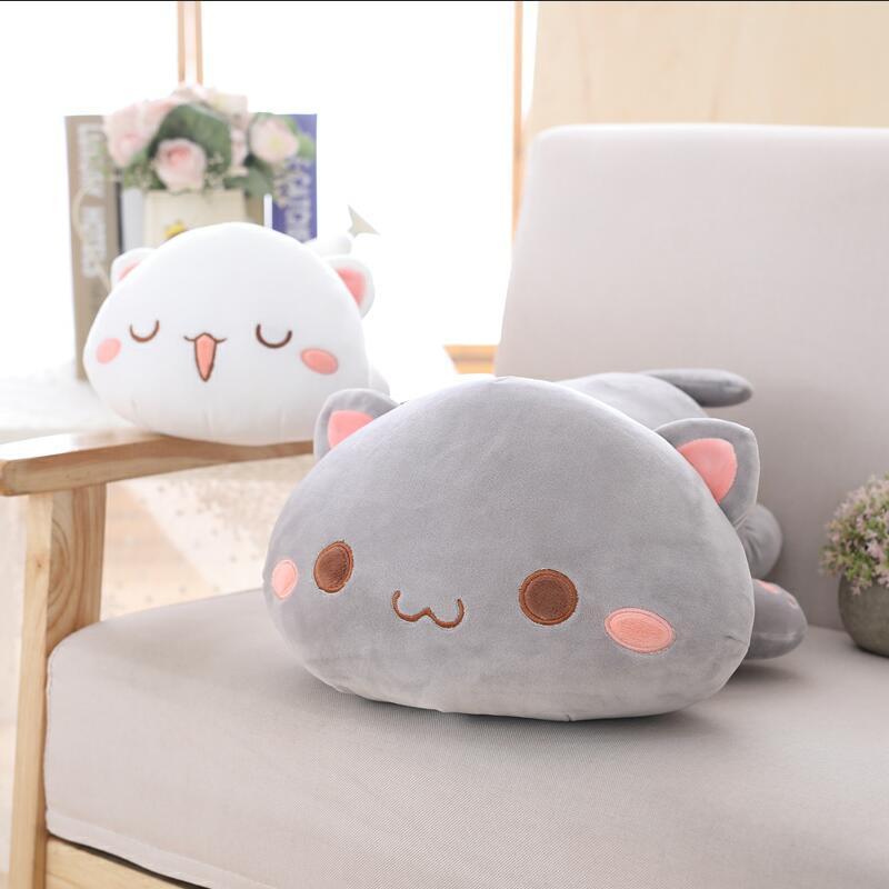 1pc 35/50/65cm Kawaii Lying Cat Plush Toys Stuffed Cute Cat Doll Lovely Animal Pillow Soft Cartoon Cushion Kid Christmas Gift
