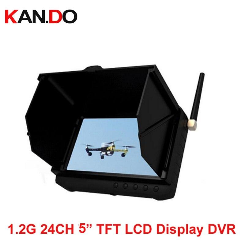 1.0G 1.1G 1.2G 1.3G wireless FPV receiver 24ch 5 LCD display FPV DVR wireless CCTV camera receiver monitor drone receiver DVR