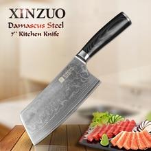 Xinzuo 7 zoll küchenmesser 73 schicht japanischen vg10 damaskus vg10 kochmesser china frau kochmesser micarta griff freies verschiffen
