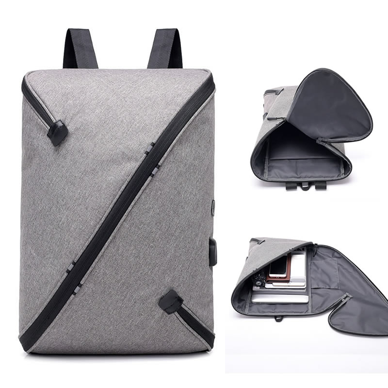 2018 New Laptop Anti-theft Men Backpack With USB Charging Headphone Interface Port Business Back Pack Waterproof For Work Women